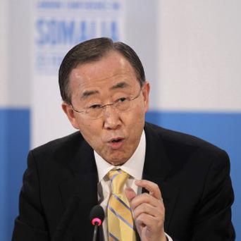 United Nations secretary-general Ban Ki-moon called for political dialogue in Mali