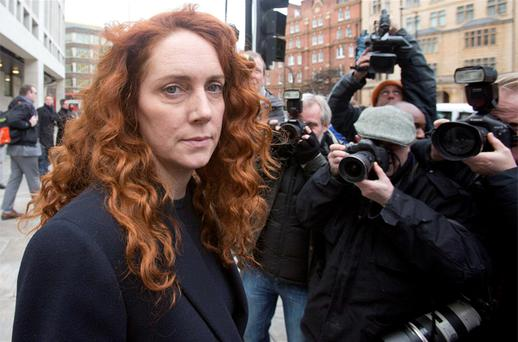 Former News International chief executive Rebekah Brooks leaves Westminster Magistrates Court after appearing to face charges linked to alleged corrupt payments to public officials in London. Photo: PA