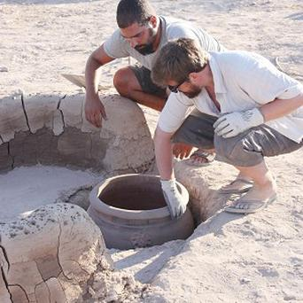 Archaeologists working in western Cyprus with their discovery of a Bronze Age 'microbrewery'