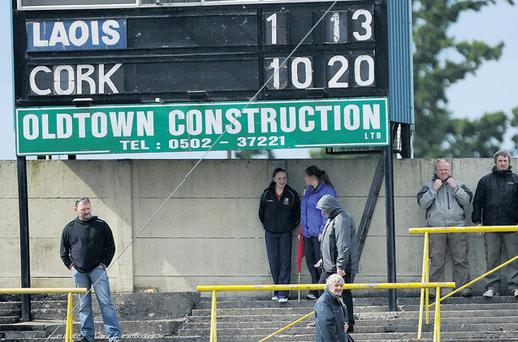 A view of the scoreboard at the end of the 2011 All-Ireland SH qualifier between Cork and Laois. The latest initiative is designed to prevent such onesided contests in the future