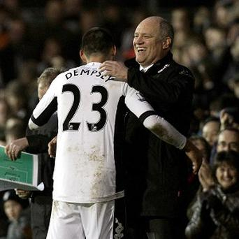 Martin Jol, right, will come up against ex-Fulham star man Clint Dempsey, left, on Saturday