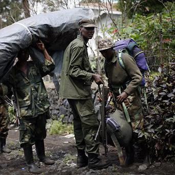 M23 rebels withdraw from the eastern DR Congo town of Goma (AP Photo/Jerome Delay)