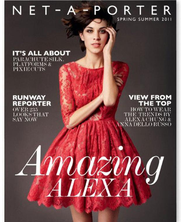 It girl Alexa Chung graces the cover