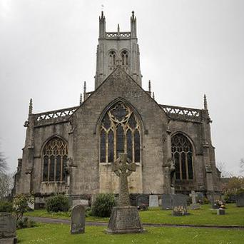 The clock at All Saints Church in Wrington, Somerset, will chime hourly overnight