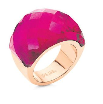 'Elements' rose-gold and fuchsia crystal ring, €65, Arnotts