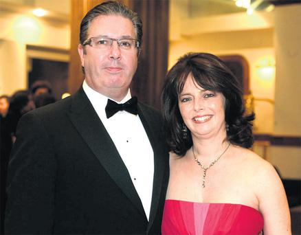 Melanie Verwoerd with Gerry Ryan shortly before the radio broadcaster's death in April 2010