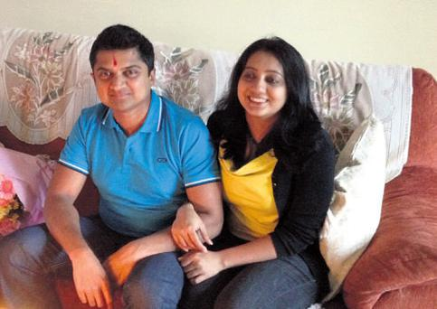 Savita Halappanavar with her husband Praveen