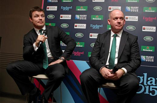 Brian O'Driscoll and Declan Kidney