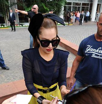 Lady Gaga has been on a South African safari