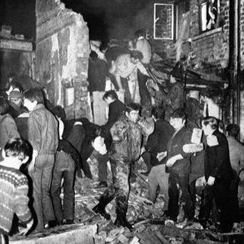Fifteen people died in a bomb blast at McGurk's bar in North Queen Street, west Belfast, on December 4 1971