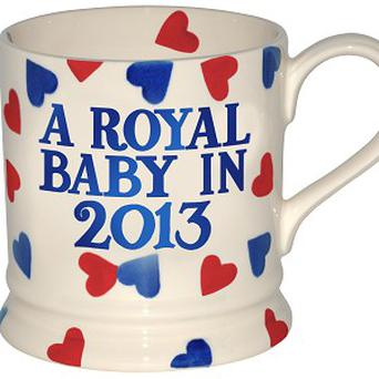 An Emma Bridgewater commemorative mug celebrating the Duke and Duchess of Cambridge's baby news has gone into production