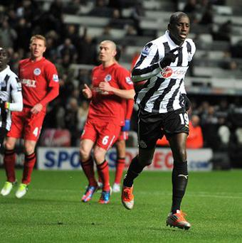 Demba Ba netted a brace in Newcastle's win over Wigan