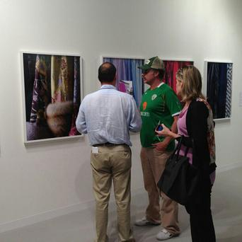 Will Ferrell at the 'Art Observed' gallery in Miami yesterday, posted to their official Twitter page.