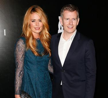 BEVERLY HILLS, CA - DECEMBER 05: TV personalities Cat Deeley (L) and Patrick Kielty attend the Rodeo Drive Walk Of Style honoring BVLGARI and Mr. Nicola Bulgari held at Bulgari on December 5, 2012 in Beverly Hills, California. (Photo by Imeh Akpanudosen/Getty Images)