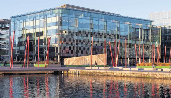 1 Grand Canal Square on Dublin's south docklands