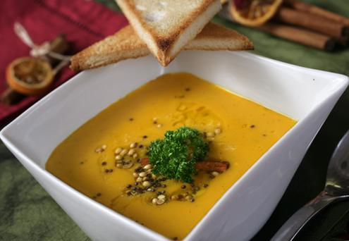 Andrew Rudd's Spiced Butternut Squash Soup.