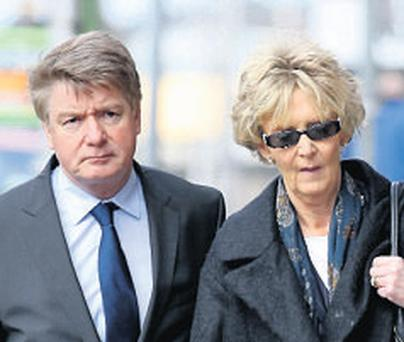 Brian and Mary Pat O'Donnell at the High Court in London