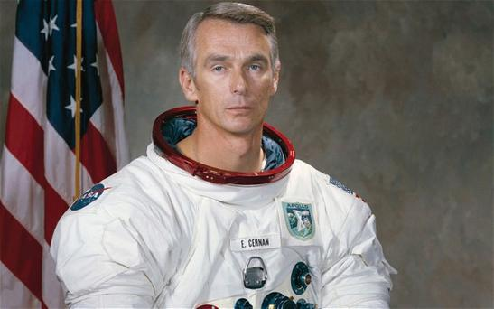 Apollo 17 Commander Eugene Cernan's camera is still sitting exactly where it was left with its lens pointing out into space; an experiment into solar cosmic radiation he hoped could be collected by future astronauts. Photo: Getty Images
