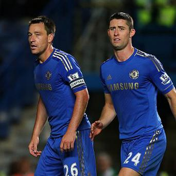 Gary Cahill, right, hopes Chelsea can use John Terry's, left, criticism in a positive way