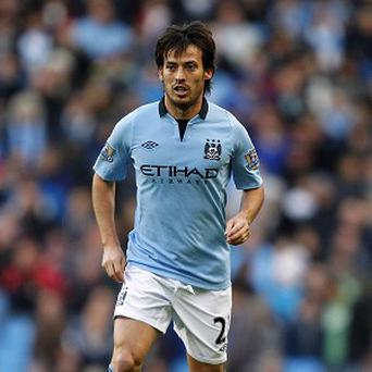 David Silva, who struggled with a hamstring injury midweek, remains in contention against Manchester United