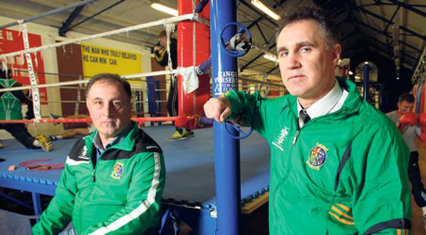 Zaur Antia and Billy Walsh in the National Stadium
