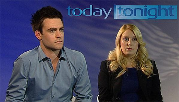 DJ's Michael Christian and Mel Greig during an interview on Australia's Channel Seven