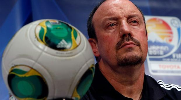 Chelsea's interim manager Rafael Benitez attends at a news conference for Club World Cup soccer tournament in Yokohama. Photo: Reuters
