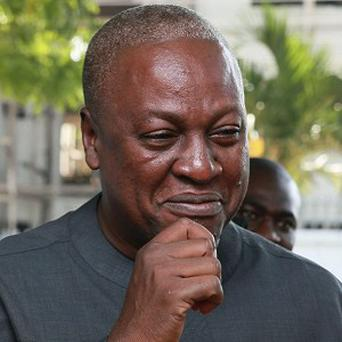 John Dramani Mahama has been re-elected president of Ghana, the country's electoral commission said