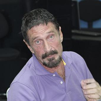 The creator of the McAfee antivirus programme, John McAfee has again denied involvement in the killing of his neighbour in Belize (AP)