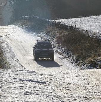 Drivers have been warned of ice on the roads after freezing temperatures overnight