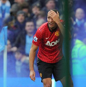 Rio Ferdinand was hit in the eye by a coin during the Manchester derby