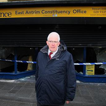 Alliance MLA Stewart Dickson's office in Carrickfergus was targeted