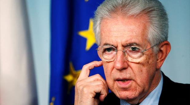 Markets were rattled yesterday by Italian Prime Minister Mario Monti's announcement he would step down early. Photo: Reuters