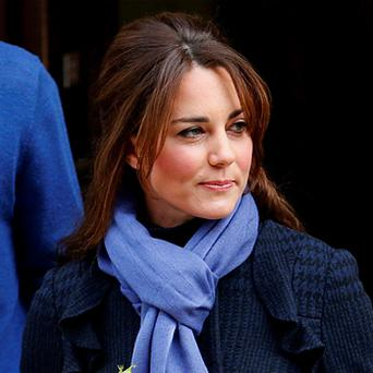 The Duchess of Cambridge leaving the King Edward VII hospital in London where she had been admitted with severe morning sickness