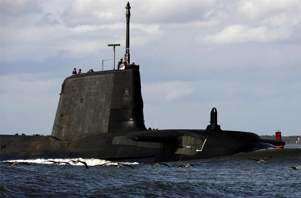 The Royal Navy's newest hunter-killer submarine HMS Astute. A £1.2 billion contract has been awarded to build the Royal Navy's new hunter-killer submarine HMS Audacious. Photo: PA