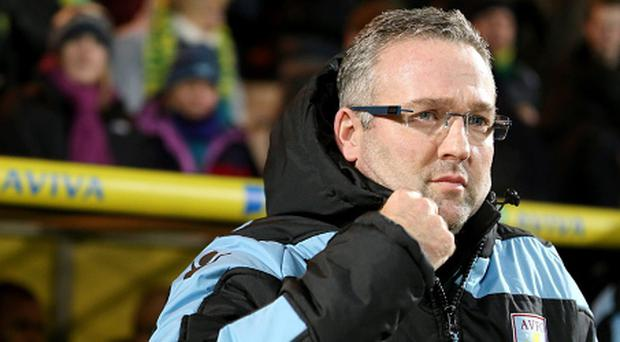 Aston Villa manager Paul Lambert on the touchline during the Capital One Cup, Quarter final match at Carrow Road Stadium, Norwich. PRESS ASSOCIATION Photo. Picture date: Tuesday December 11, 2012. See PA story SOCCER Norwich. Photo credit should read: Chris Radburn/PA Wire.