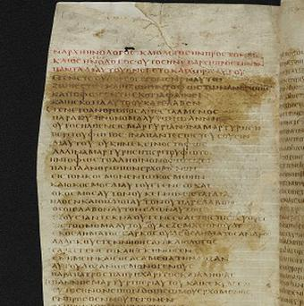 A page from the Codex Bezae, one of the most important New Testament manuscripts (Cambridge University Library/PA)