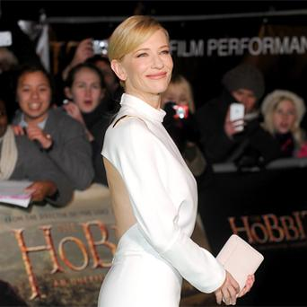 Cate Blanchett arrives for the royal premiere of the film 'The Hobbit - An Unexpected Journey' in central London. Photo: Reuters