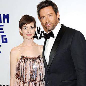 Hugh Jackman was joined by co-stars including Anne Hathaway at the event in New York