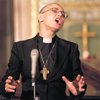 Sinead O'Connor singing in St Ann's Church on Dublin's Dawson Street