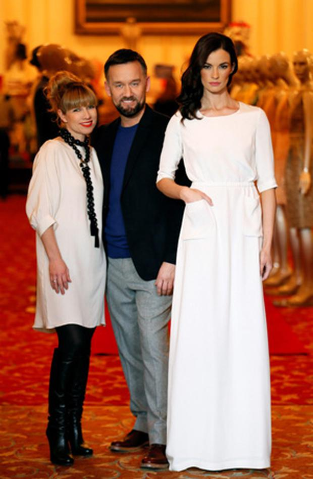 Sonia Lennon and Brendan Courtney pictured at the launch of the Arnotts Spring Summer 2013 collection.