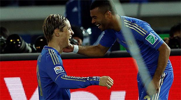 Fernando Torres c celebrates scoring in the Club World Cup