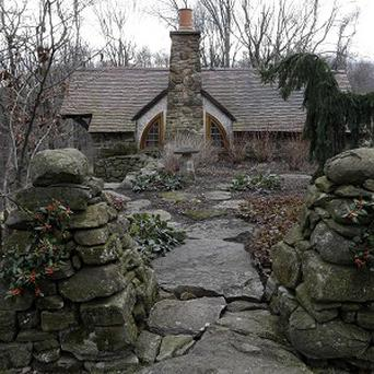 An exterior view of the Hobbit House in Chester County, near Philadelphia (AP)