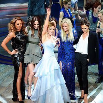 The Spice Girls took to the stage after the performance of Viva Forever!