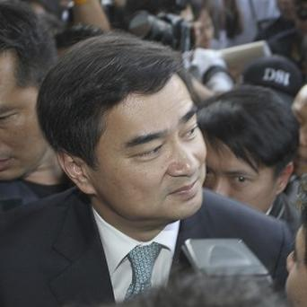 The murder charge against former Thai prime minister Abhisit Vejjajiva stems from suppression of anti-government protests in 2010 (AP)