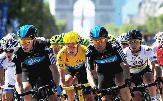 Team Sky will have home backing when the 2014 Tour de France goes to Yorkshire and London Photo: PA