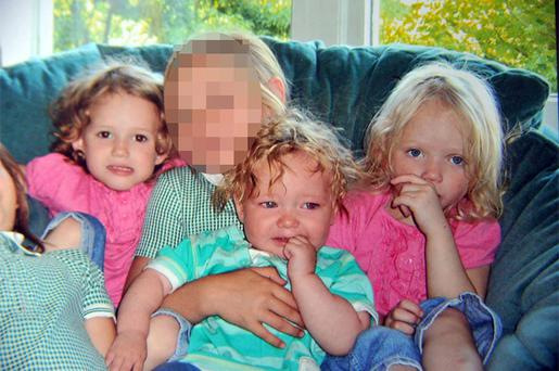 Jordan Smith, 2, (front) and twins Holly and Ella Smith, 4, (in pink) who died in a house fire in Lytham Road, Freckleton, Lancashire. Photo: PA
