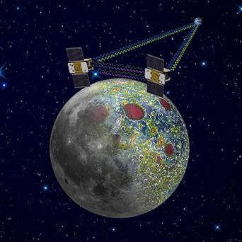 The twin Grail spacecraft mapping the lunar gravity field (AP/Nasa,Jet Propulsion Laboratory)
