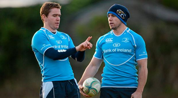 Eoin Reddan (left) gets nod to start at scrum-half for Leinster today but Isaac Boss is also likely to play a part during the 80 minutes