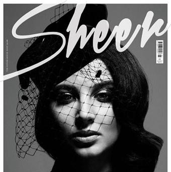 Tulisa took part in a sophisticated photoshoot for fashion mag Sheer